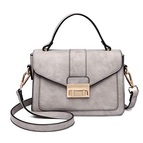 Miss Lulu Crossbody Bag For Women Small Casual Shoulder Satchel Purse (Grey)