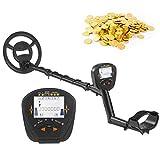 Detector de metales, pantalla LCD de 3,4 pulgadas, buscador de metales subterráneo, buscador de oro, buscador de tesoros, con bobina de búsqueda impermeable de 10 pulgadas, todos los modos de metal +