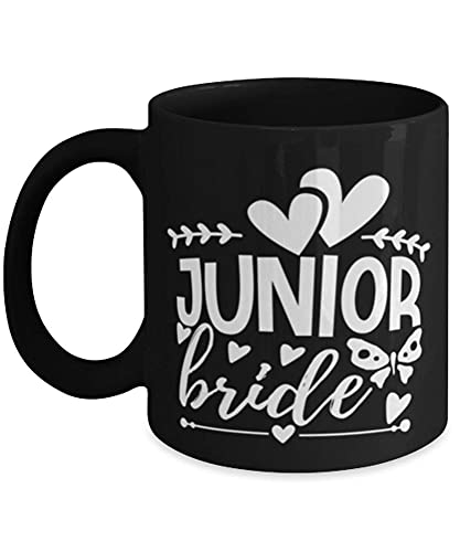 N\A Taza de café para Bodas Junior Bride Negro 11oz 93YNCF