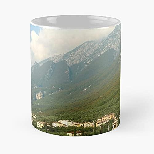 Lake Garda Monte Baldo - Mug Holds Hand 11 Oz, 15 Oz Made from White Marble Ceramic Printed Trendy Design I Customize