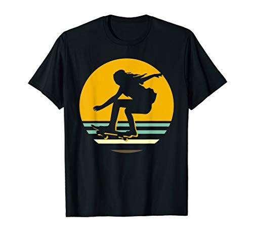 Skater Girl Coolen Retro-Design-Skating Skateboard T-Shirt