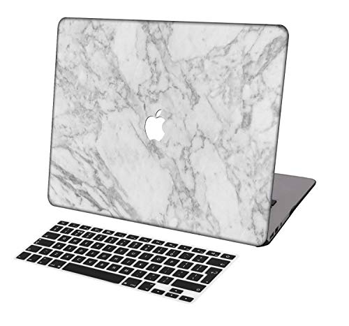 Laptop Case for MacBook Pro 13 inch Retina Model A1425/A1502,Neo-wows(2 in 1 Bundle) Plastic Ultra Slim Light Hard Shell Cover UK Keyboard Cover Compatible MacBook Pro 13 inch No CD ROM,Marble A 134
