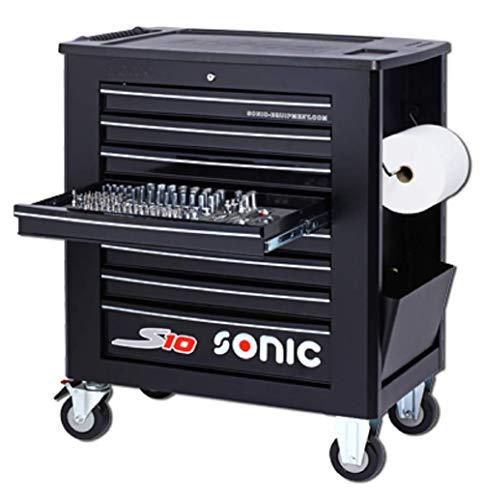 Sonic 739009 Werkstattwagen S10 Schaumeinlagen mit 391 Teilen Farbe schwarz