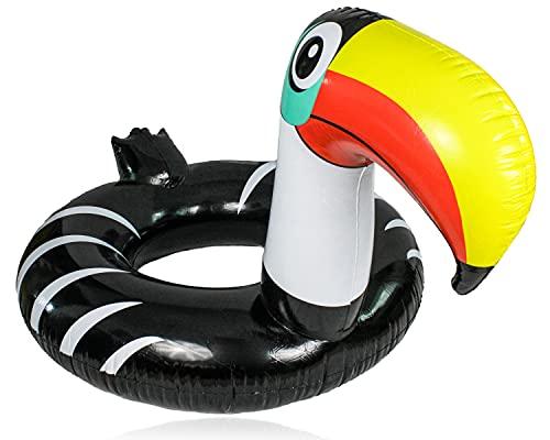 Selldorado® 1 x salvagente XXL per adulti in design a tubicano alla moda, gonfiabile, materasso ad aria per vacanze in spiaggia, Ø 125 cm