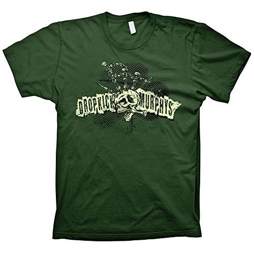 Dropkick Murphys - Bagpipe Mohawk Skull T-Shirt, grün, Grösse M