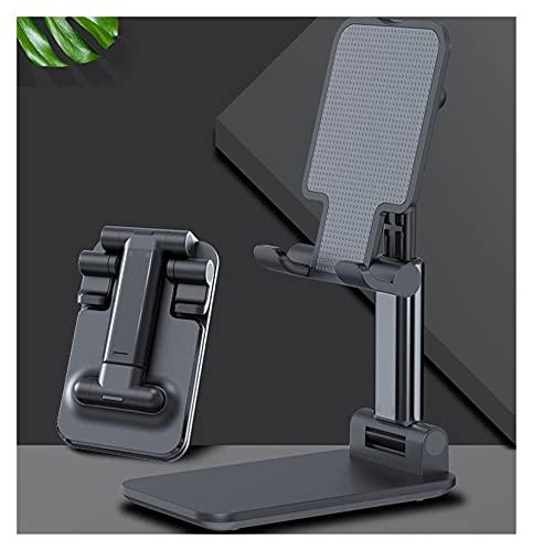 YJHL QIQIBH Soporte de escritorio para teléfono I-Pad para X-iaomi para H-uawei Soporte de metal para tableta de escritorio de escritorio, soporte de extensión plegable (color negro)