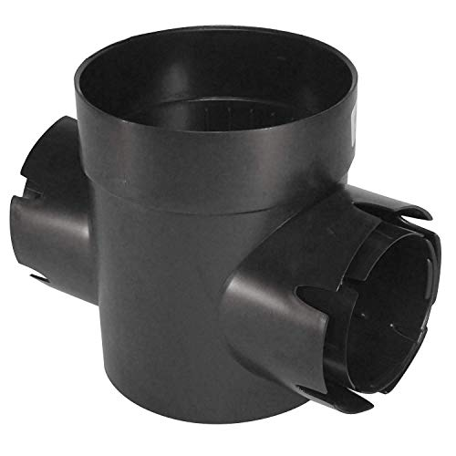 """NDS 201 Spee-D Basin Double Locking Outlets, 3 4-Inch, 6"""", Black"""