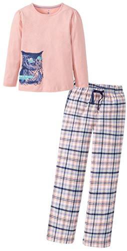 Golden Lutz - Mädchen Schlafanzug Pyjama 'Eule', lang, 2-teilig (apricot blau türkis, Gr. 110/116)   LUPILU