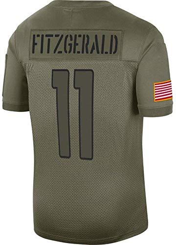 YOYO Camiseta De Futbol De La NFL Arizona Cardinals # 11 Fitzgerald # 40 Tillman Camisetas De Manga Corta De Jersey,Green-11-XXL