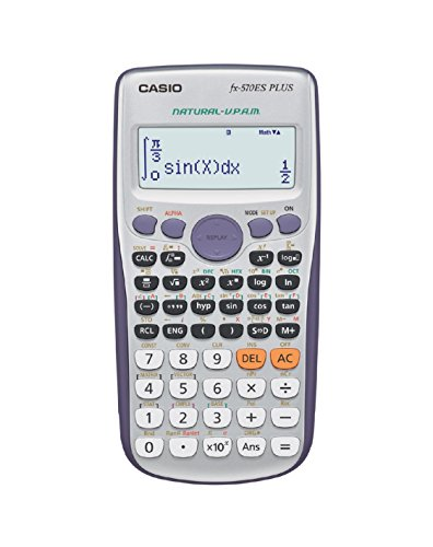 Casio FX-570es Plus – rekenmachine, desktop-, accu, display calculator, grijs, zilver, knoppen, dot-matrix)