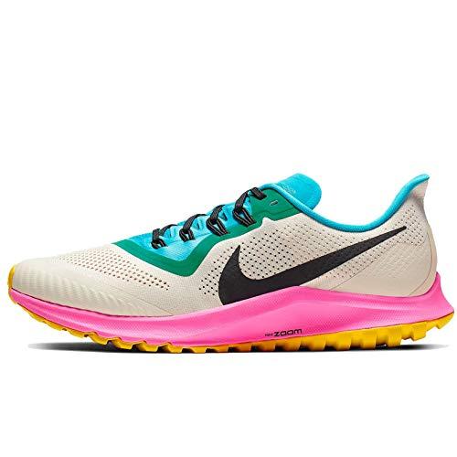 Nike Air Zoom Pegasus 36 Trail Men's Running Shoe LT Orewood BRN/Black-Pink Blast Size 9.0