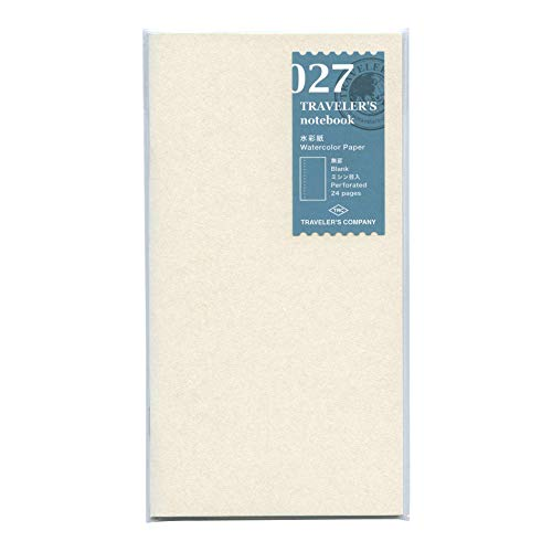 Watercolor Paper Notebook - Refill 027 per Traveler's Notebook Regular Size