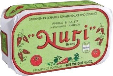 5x Nuri - Sardinen in scharfer Tomatensauce & Olivenöl - 125g