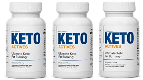 KETO ACTIVES Premium - The Best Diet Supplement for Weight Control, 100% Natural Ingredients, Enormous Fat Burning, removes Body Fat on The Waist, Hips and Legs, 180 Capsules