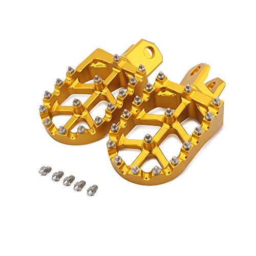 JFG RACING Repose-pieds CNC pour moto tout-terrain Suzuki RM125 86-06, RM250 89-06, RM250Z 01-06, RMX250 89-96, DR-Z 400 00-04, DR-Z 400E 00-07, DR-Z 400S 0-00-S 17, DR-. Z 400SM 05-17.