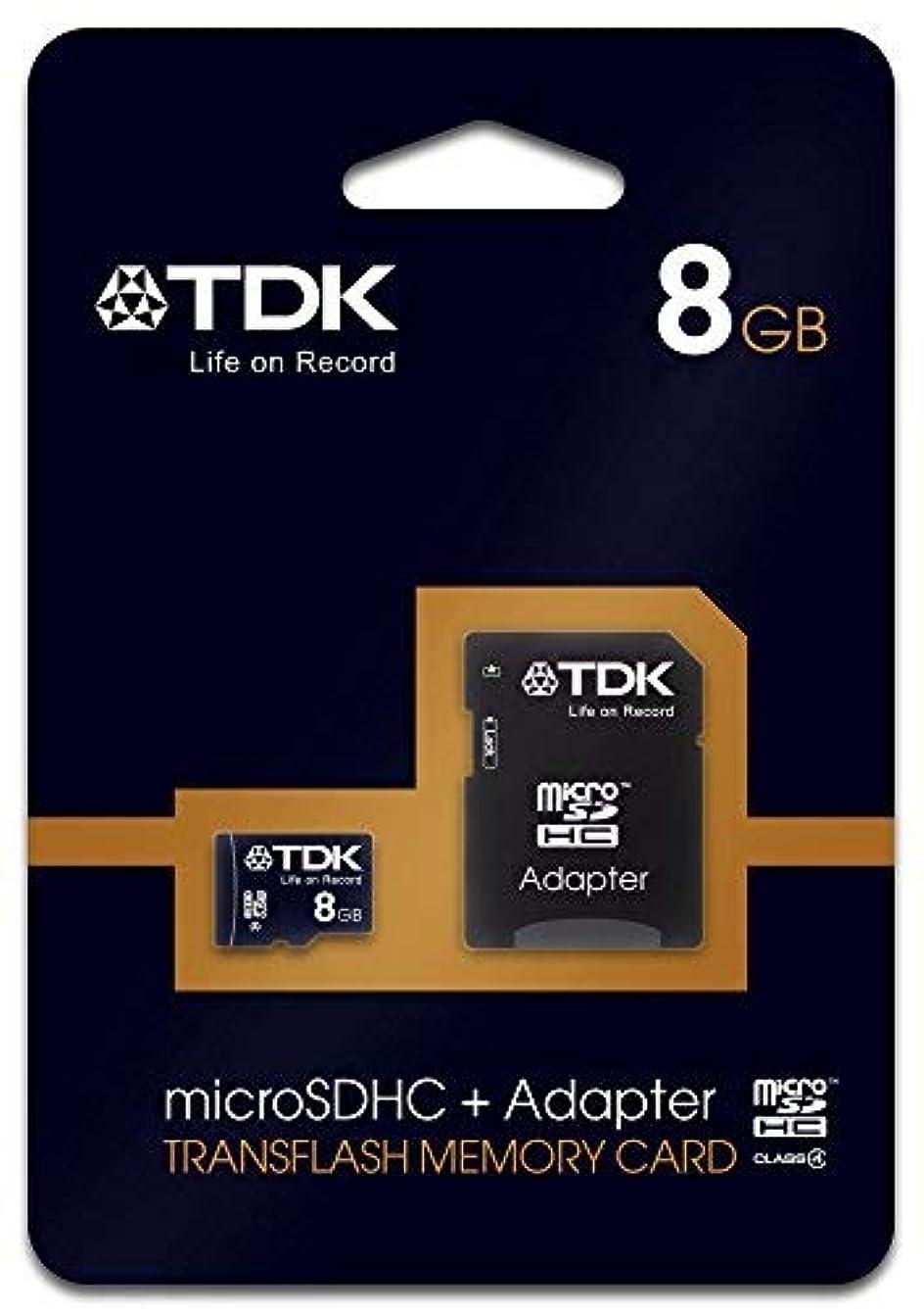 タクト外科医フリルTdk 78537 8GB Class 4 Micro SDHC With Adapter Memory Card [並行輸入品]