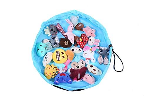 Multifunción Portátil Impermeable Juguetes para niños Bolsa de almacenamiento rápido y almohadilla para juegos Bolsillo de haz de juguete Moda Práctico diámetro de almacenamiento 50cm, Azul cielo