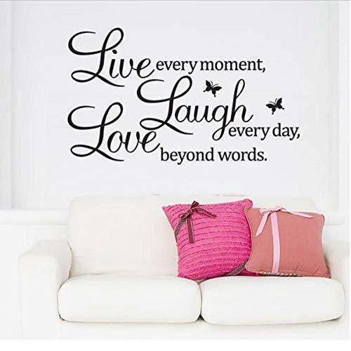 MUXIAND muurstickers lachen elke dag patroon PVC DIY kunst voor huisdecoratie woonkamer slaapkamer Vinyl verwijderbare muurschildering liefde sport spel citaat tiener jongen 50x70cm