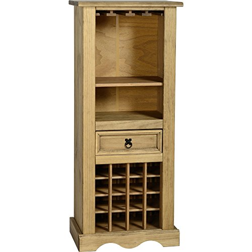 Corona Seconique by Home Discount – Portabottiglie in Legno di Pino