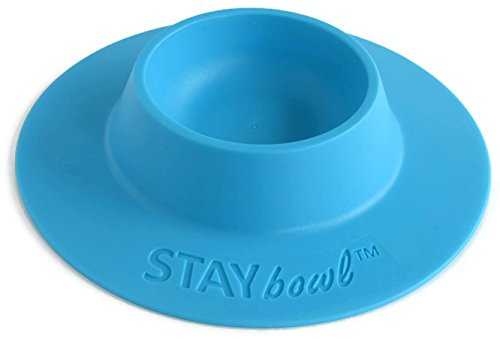 STAYbowl Tip-Proof Ergonomic Pet Bowl for Guinea Pig and Other Small Pets; 1/4-Cup Size; Sky Blue
