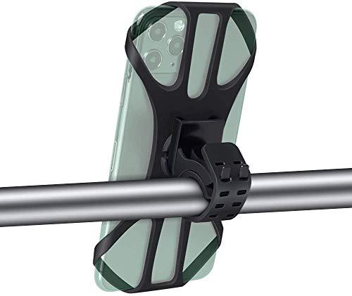 Huanchenda Support Téléphone Vélo, [Cas 3D] [Rotation à 360 °] Support de téléphone de vélo en Silicone, Support de téléphone Anti-Vibration pour Smartphone