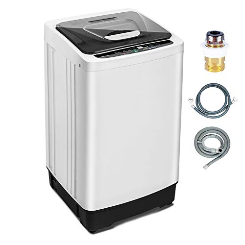 Portable Washing Machine 1.55 Cu.ft /12.6 lbs Full Automatic washer and dryer combo, Compact laundry machine washer with Drain Pump, Wheels, LED Display for Apartment, Camping, Rv, Sink, Clothes