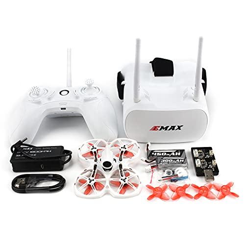 Dron de carreras EMAX FPV, kit Tinyhawk II RTF, dron con vista en primera persona con cámara Runcam Nano 2, VTX conmutable 25-100-200, Mini-Drohne con gafas y controlador