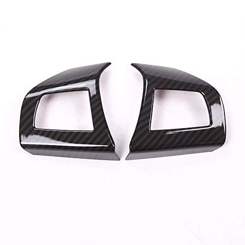 Accessoire intérieur Auto pour véhicule, pour Levante Ghibli Quattroporte, Cadre de Couvercle de Volant de Moteur de Voiture, Garniture ABS en Fibre de Carbone, Plastique, 2 pcs/Set