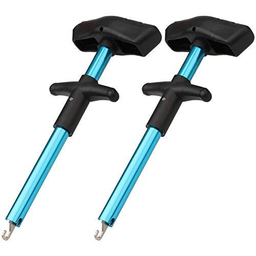 VIPMOON Einfache Angelhaken Entferner-Out Angelhaken Separator Werkzeuge Tragbare Einfache Reichweite Aluminium Angelhaken Extractor Schnelle Entkopplung Keine Verletzung (2 Pack)