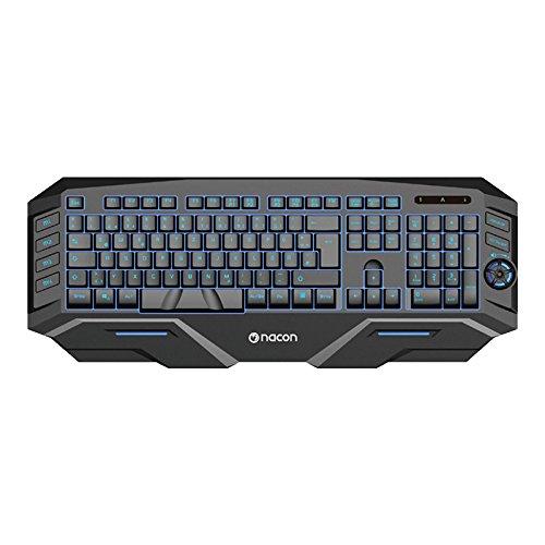 NACON GK-500DE Gaming Tastatur mit mehrfarbige Tastenbeleuchtung/Makro