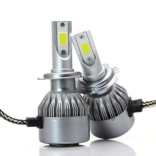 Ampoule de phare de voiture à LED, kit de conversion intégré phares externes à puce super brillante H1 7200LM 72W CSP