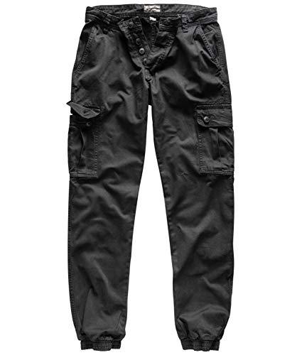 Surplus Raw Vintage Herren Cargo Bad Boys Pants, schwarz, XL