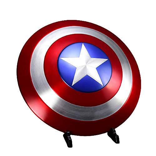 Costume America Scudo Capitan America,Vengadores Marvel Capitn Amrica Disfraz 1: 1 Apoyos de Pelcula Aleacin de Aluminio Captain America Shield