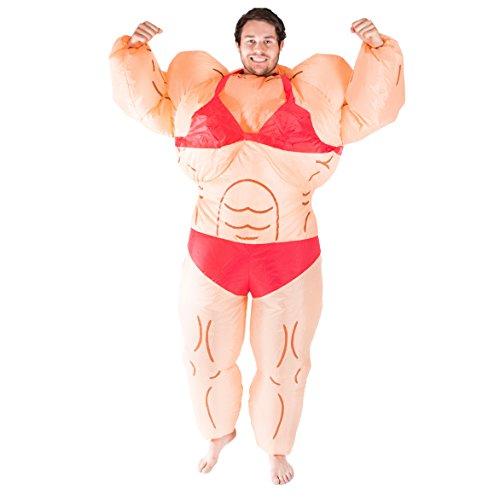 Bodysocks® Aufblasbares Bodybuilder Muskel Frau Anzug Kostüm für Erwachsene
