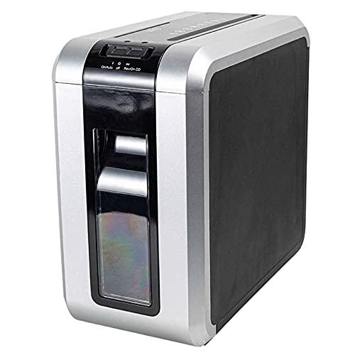 TreeSouth Destructora trituradora de Papel trituradora de Papel doméstico/Comercial 5 Niveles de confidencialidad Capacidad de 10L Adecuada para triturar Documentos, Tarjetas bancarias, CD