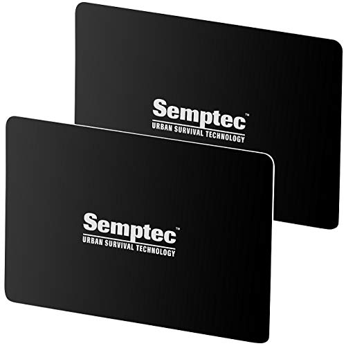 Semptec Urban Survival Technology Kartenschutz: 2er-Set RFID- & NFC-Blocker-Karten im Scheckkarten-Format (RFID Blocker Schutzkarte)