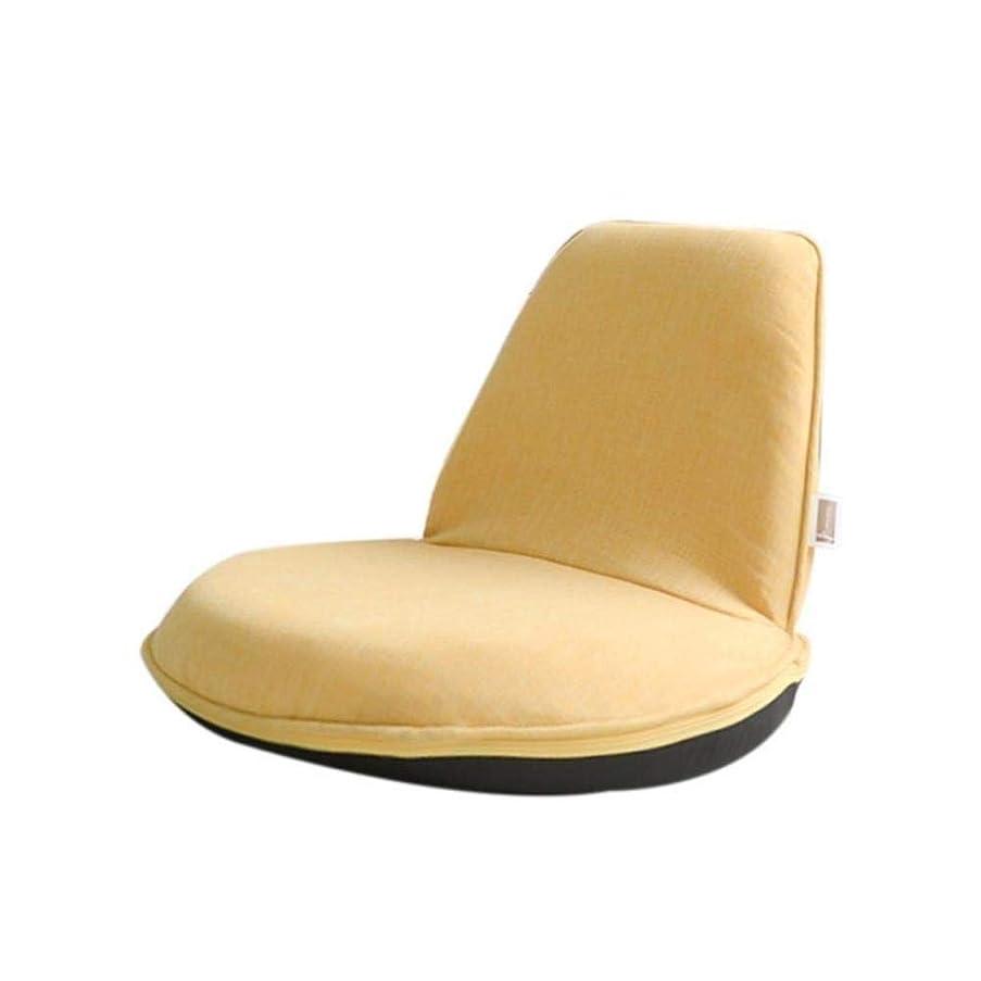 見通し予定悪質な瞑想チェア、レイジーチェア、子供用シングルミニ折りたたみフロアチェア、ベッドルームレイジースモールソファ、ゲームチェア、畳、背もたれ付きベッドルームベイウィンドウ日本の椅子 (Color : 黄)