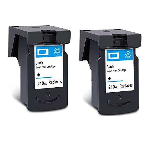Cartucho de tinta PG-210XL CL-211XL, reemplazo de alto rendimiento para Canon PIXMA IP2700 IP2702 MX320 MX330 MX410 MP230 MP480 Cartuchos de tinta MP480 Negro y tri- 2 Black