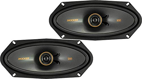 KICKER 47KSC41004 KS Series Low Profile 4x10 Inch 4 Ohm 15 to 75 Watts RMS Power Factory Replacement Coaxial Car Audio Sound System Speakers (Pair)