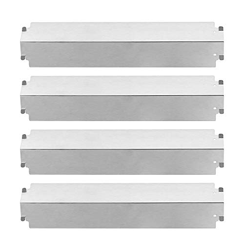BBQ funland Repair Kit Stainless Steel Heat Plate Tent Shield, Burner Cover Replacement Parts for Charbroil Kenmore Gas Grills