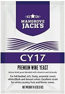Levadura para vino - Mangrove Jack's CY17 | 8g/25L - Adecuado para Vino Blanco - Vino Rosado - Vino Generoso