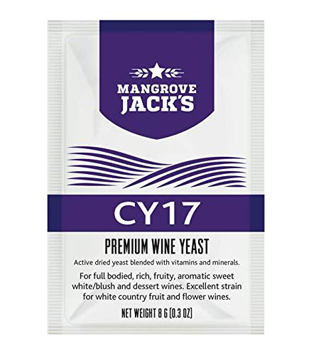 Levadura para vino - Mangrove Jack's CY17   8g/25L - Adecuado para Vino Blanco - Vino Rosado - Vino Generoso