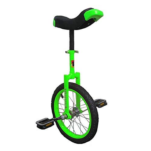 AHAI YU Uniciclos Verdes para Adultos/Principiantes 20/24 Pulgadas, Ruedas de 16 Pulgadas Unicycle para niños/niños/niños/niñas, 12 Pulgadas Pequeños niños/Niño Balance de Ciclismo (Size : 16INCH)