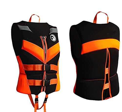 Sunangle Chaleco Salvavidas para Adultos Niños, Chaleco de Natación en Kayak, Profesión de Seguridad Ajustable Anticolisión Chaleco de Flotabilidad de Verano,Naranja,XS
