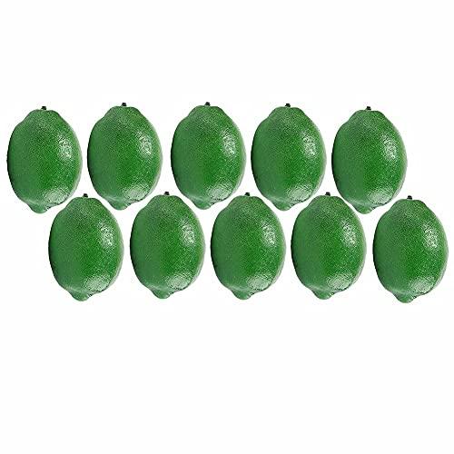Schön Künstliche Zitronen und Limetten 10 Stück, gefälschte Früchte Faux lebensechte Simulation Zitrone, for Heimpartybadezimmer Geburtstagsklassenzimmer, Größe (9.6 * 6.3 / 8.1 * 5,1 cm) (Farbe: Gelb