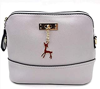 Women's Handbags Leather Fashion Small Shell Bag with Deer Toy Women Shoulder Bag Casual Ladies Crossbody Messenger Bag