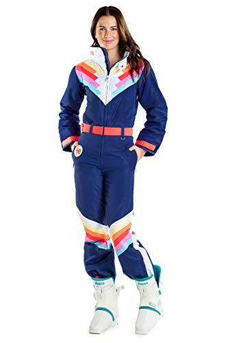Classic Striped Blue Ski Suit for Women Tipsy Elves Santa Fe Shredder Size Small
