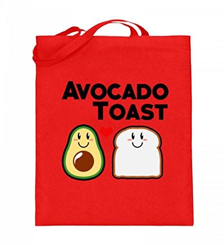 SPIRITSHIRTSHOP Lustiges exklusives Avocado Toast veganes Liebhaber Veggie Vegan Schwanger Baby Nachwuchs - Jutebeutel (mit langen Henkeln) -38cm-42cm-Rubinrot