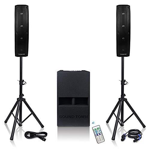 Sound Town Subwoofer and Column Speaker Line Array System CARPO-V412DS...