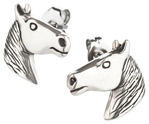 Ohrstecker Pferd Ohrring aus Sterling Silber für Kinder Damen und Herren